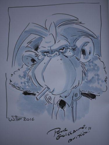 Les ailes du singe dédicacé par Etienne Willem
