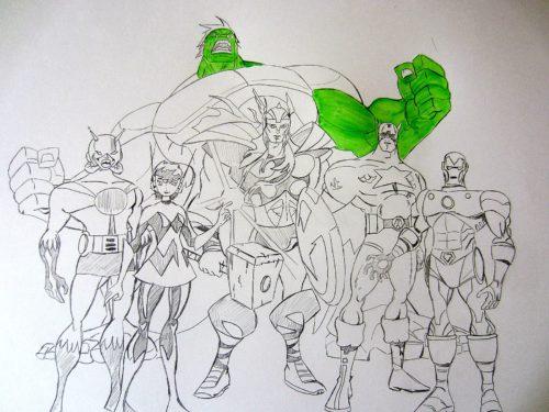 Avengers : L'Équipe des super-héros - crayonné
