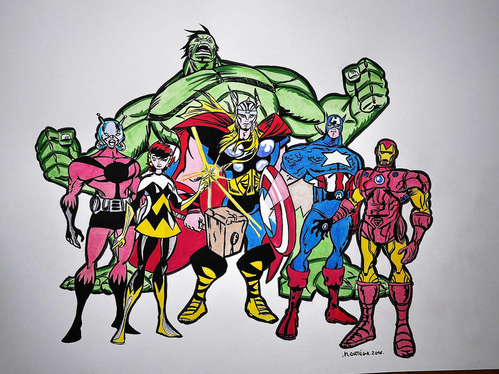 Avengers l equipe des super heros ortega mariano dessinateur penciler tarn - Image de super hero ...