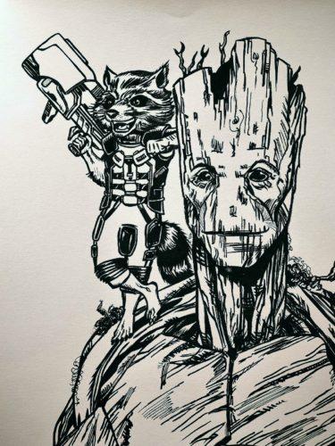 Rocket Racoon et Groot