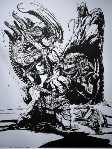Aliens vs Predator - encré