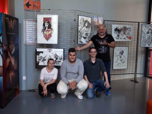 L'équipe du Calp Ciné et moi - Exposition Wonder Woman