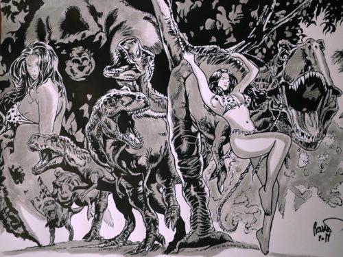 Cavewoman par Paul Renaud