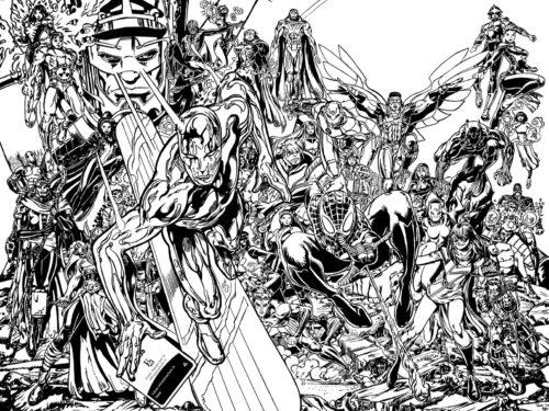 Galactus et les héros Marvel