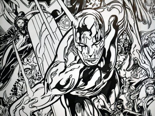 Silver Surfer - Galactus et les héros Marvel