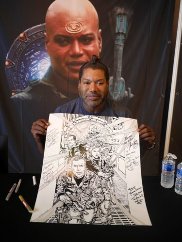 Teal'c alias Christopher Judge et mon dessin