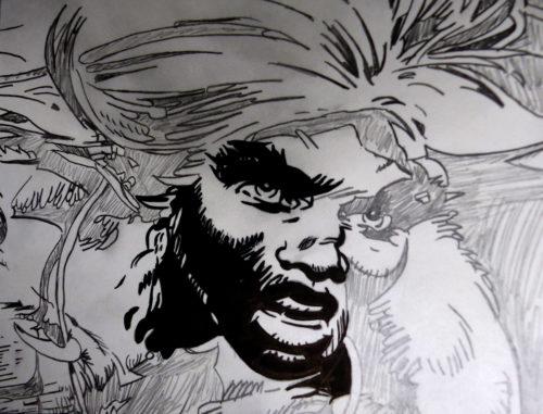 Dessin Rahan, le fils des âges farouches crayonné