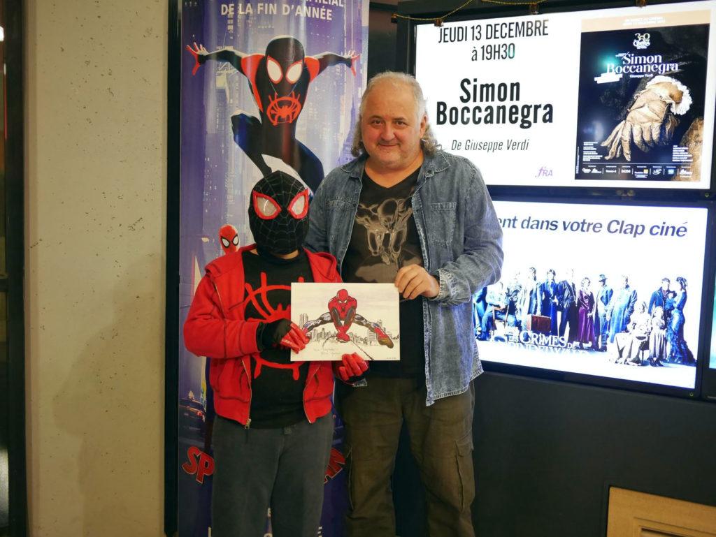 Le gagnant du concours de dessins Spider-man