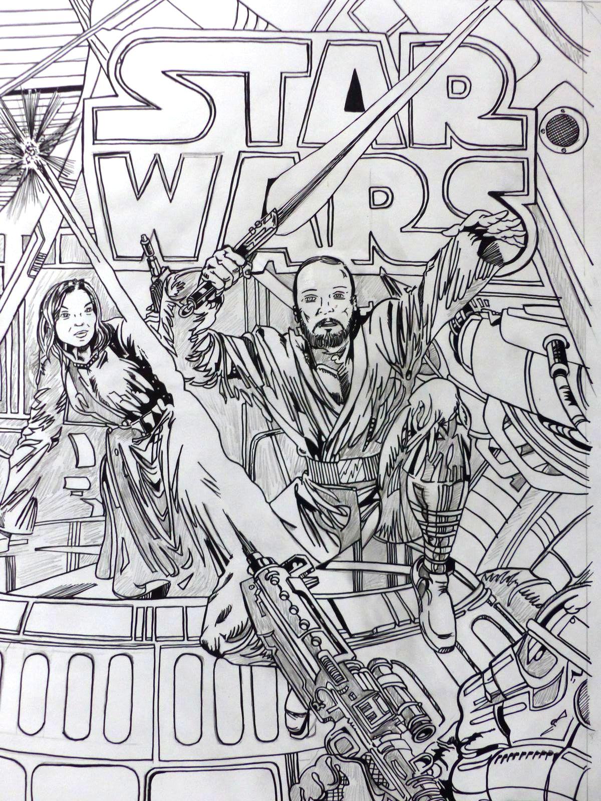 Commission dessin Star Wars   ORTEGA Mariano - Dessinateur / penciler - Tarn