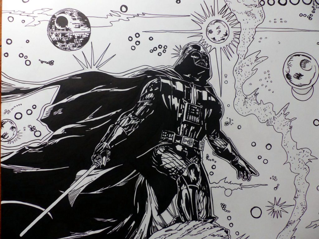 Le terrible Dark Vador - Encrage