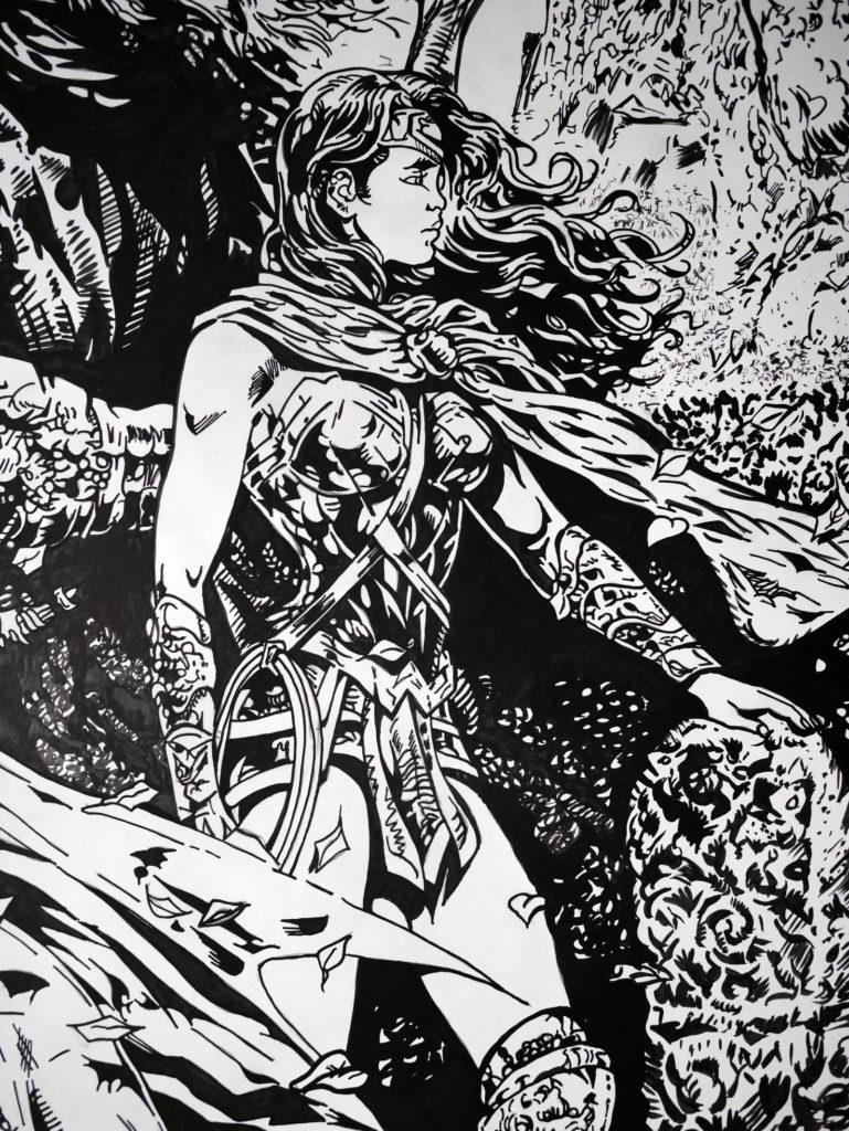 Wonder Woman & Batman : La chute de Tir Na Nog par Liam Sharp