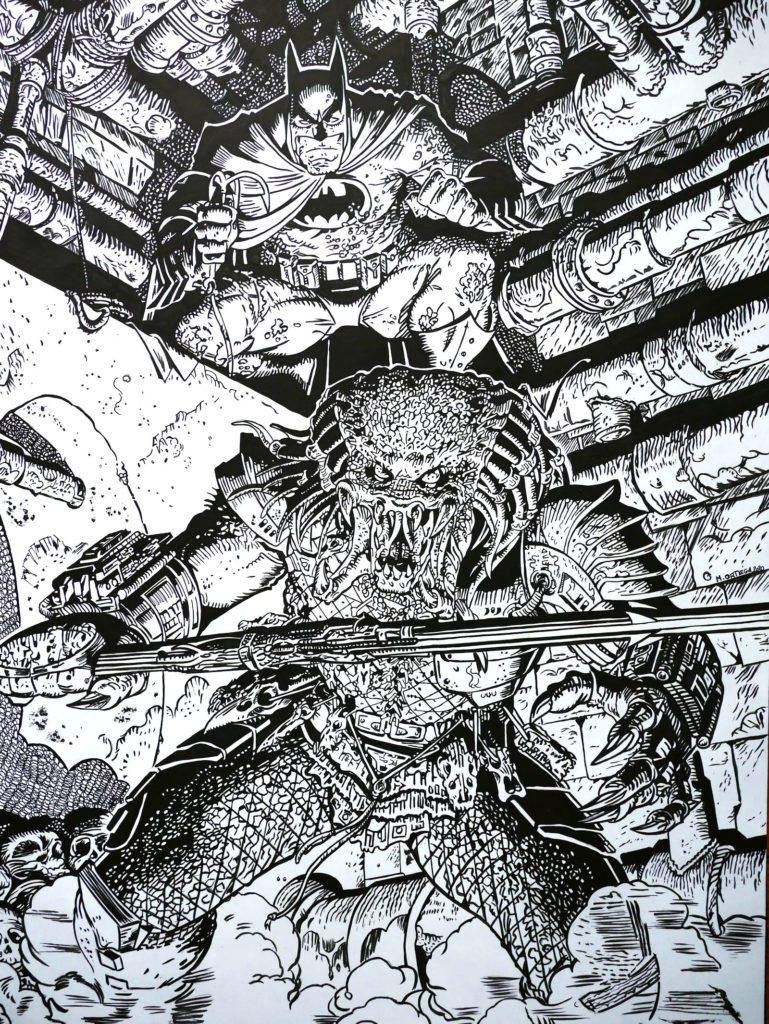 Batman vs Predator - Arthur Adams
