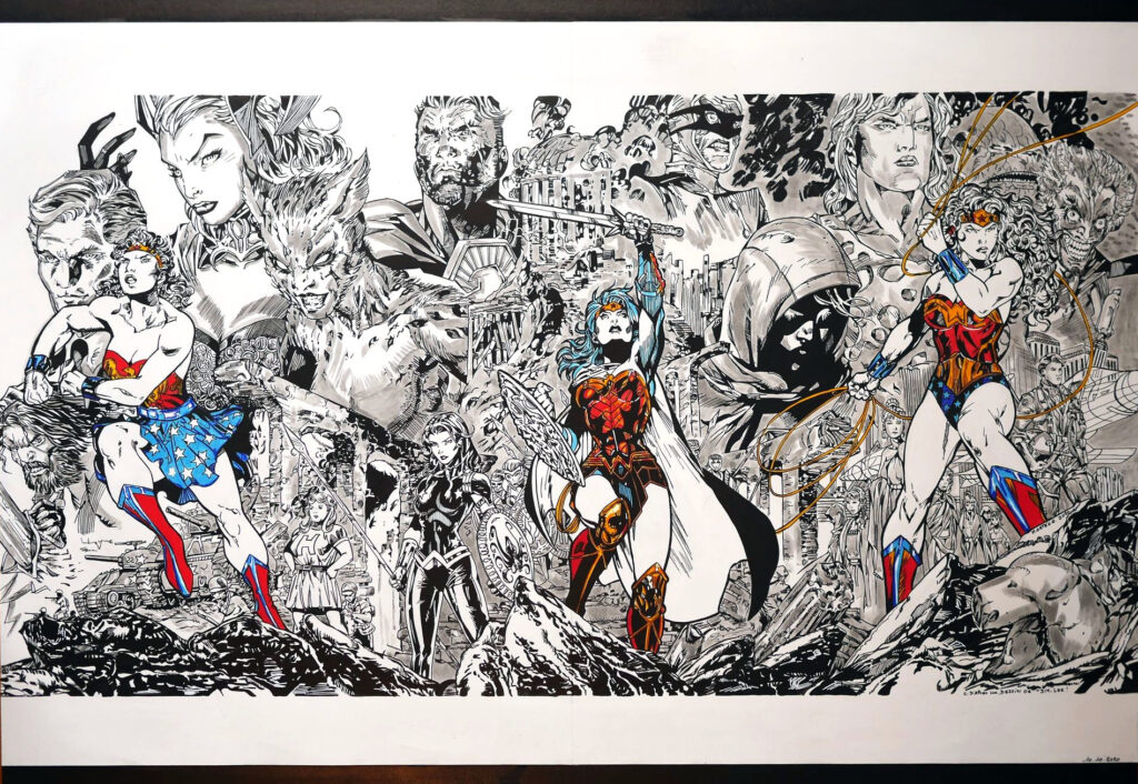 Triptyque Wonder Woman 750 par Jim Lee - Terminé
