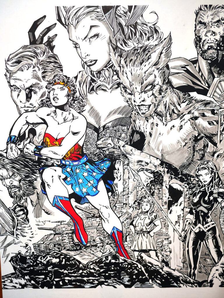 Triptyque Wonder Woman 750 par Jim Lee