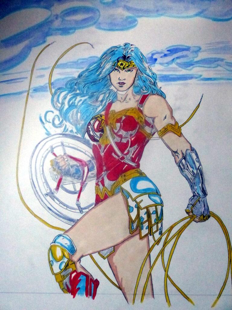 Commission Wonder Woman - colorisation